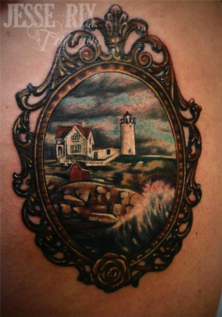 Jesse Rix - Nubble light house tattoo