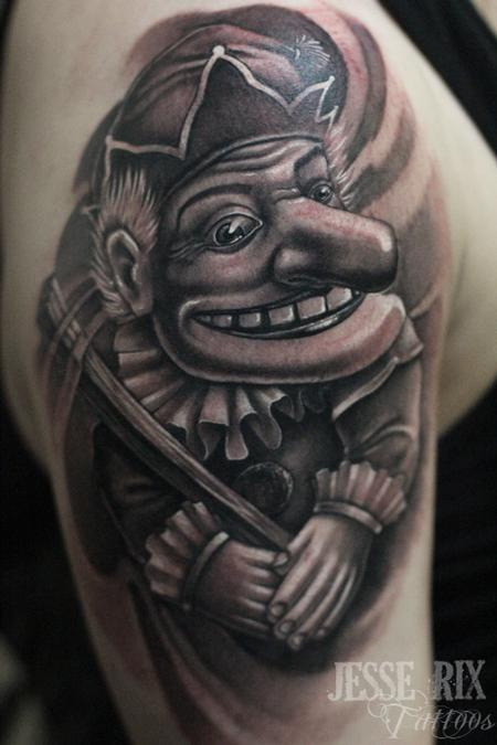 Punch The Puppet Tattoo Design Thumbnail