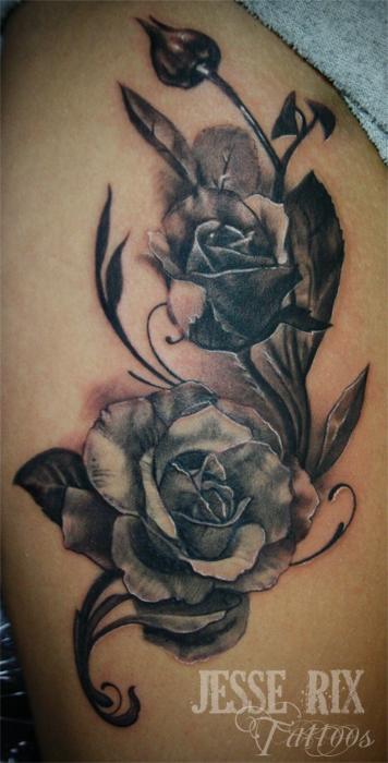 Jesse rix tattoos tattoos jesse rix black and grey rose tattoo black and grey rose tattoo urmus Choice Image