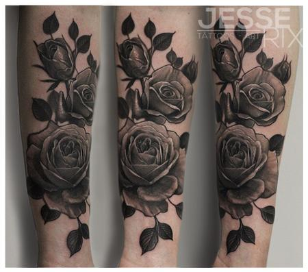 Jesse rix 39 s tattoo designs tattoonow for Black and gray rose tattoos