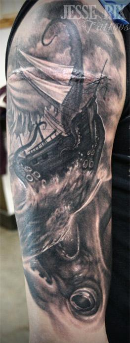 Jesse Rix - Squid Tattoo