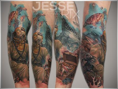 Jesse Rix - Under Water Tattoo