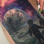 Boy and Girl on Moon Tattoo Design Thumbnail