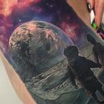 Boy and Girl on Moon Tattoo Design Thumbnail