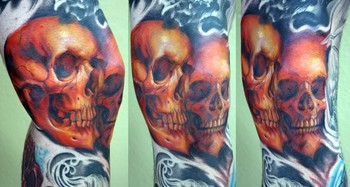 Shawn Barber - jasons skull leg/knee