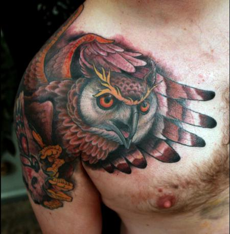Tattoos - owl - 68668