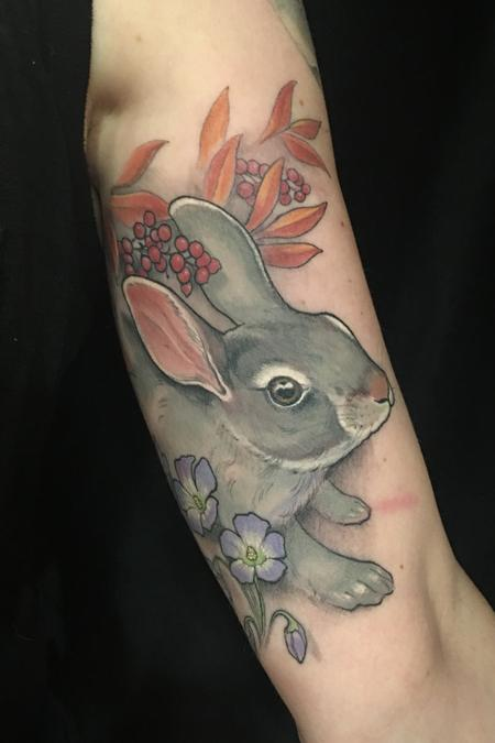 Shawn Hebrank - Bunny and Flowers