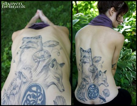 Tattoos - Foxes and poppies - 79059