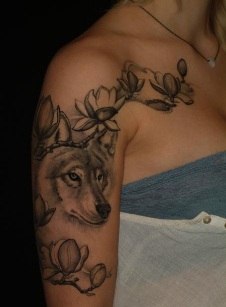 Tattoos - Wolf Sleeve - 109279