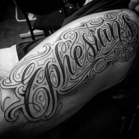 Tattoos - Ephesians 3:19 Script Tattoo - 115962