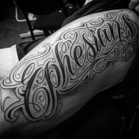 Tattoos - Ephesians 3:19 Script Tattoo - 115962