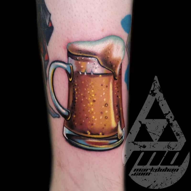 beer mug by mark duhan tattoonow. Black Bedroom Furniture Sets. Home Design Ideas