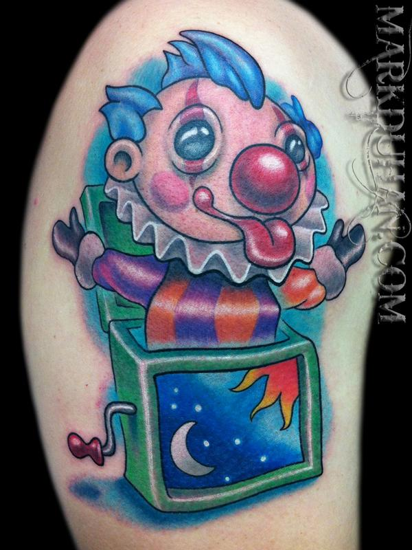Jack in the box by mark duhan tattoonow for Skin gallery tattoo