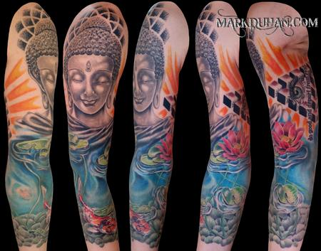 BUDDHIST 3/4 SLEEVE Tattoo Design Thumbnail