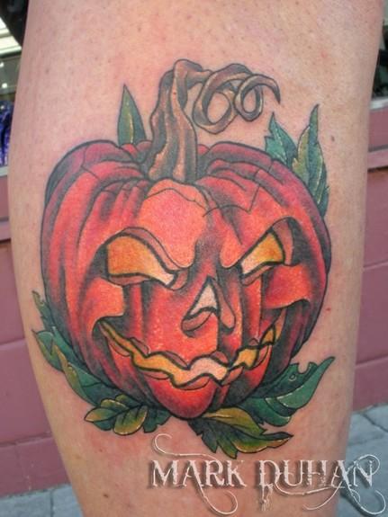 Go Back > Galle... Evil Jack O Lantern Tattoo