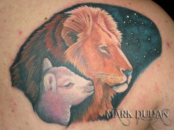 Tattoos > Page 1009 > LION AND LAMB
