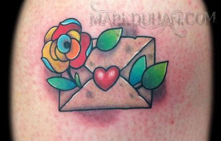 Traditional Love Letter Tattoo Mark duhan - love letter