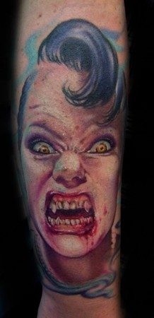 Vampire portrait tattoo Tattoo Design