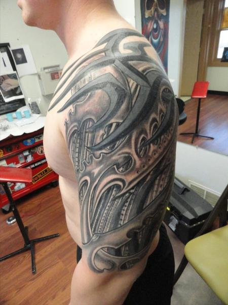 Tattoos - biomechanical tattoo - 76356
