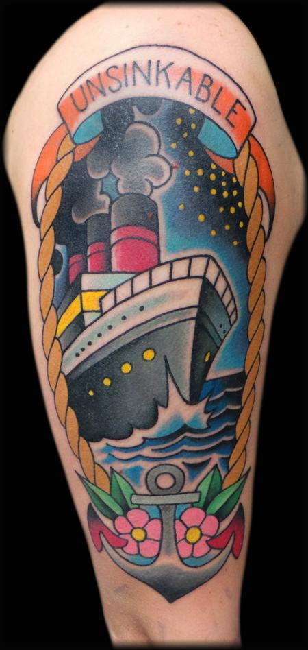 titanic Tattoo Design Thumbnail