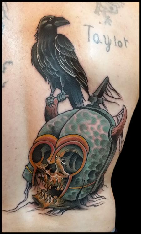 Tattoos - skull helmet - 99269