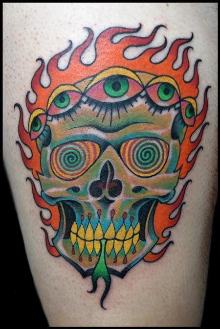 Tattoos - psych skull - 99263