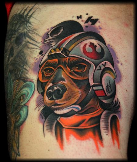 Looking for unique  Tattoos? rebel dog