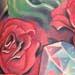 tattoo galleries/ - Roses with crown and diamond