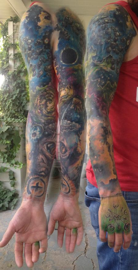 Tattoos - preston's space sleeve - 111447