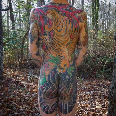 Tiger backpiece  Tattoo Design Thumbnail