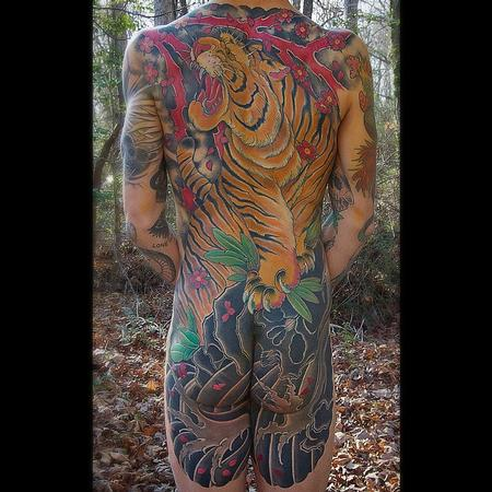 Tiger backpiece Tattoo Design