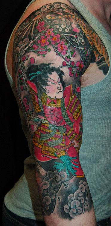 Tattoos - samurai at fuji in spring - 128946