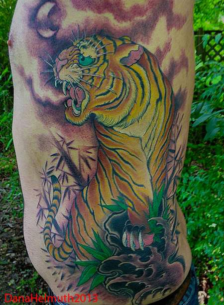 tiger rib piece Tattoo Design Thumbnail