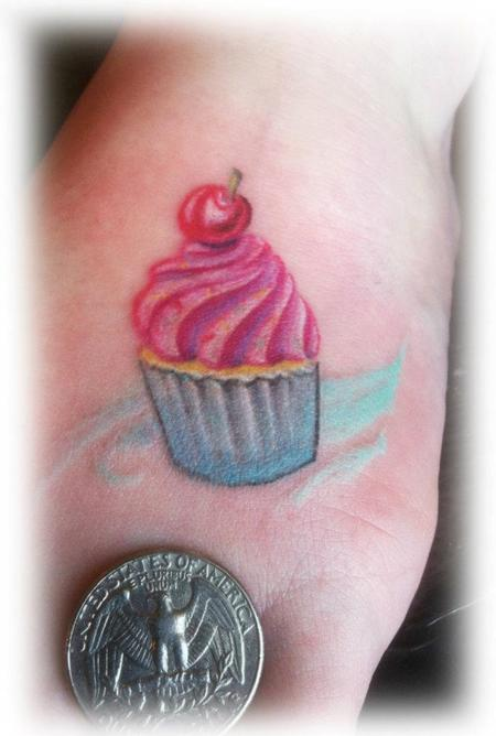 Tattoos - Tiny Cupcake Tattoo - 84318