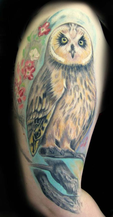 Tattoos - Owl - 85729
