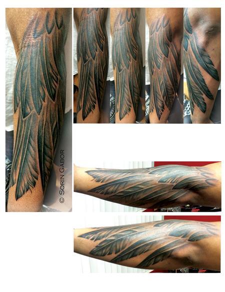 Tattoos - Feather half sleeve - 90047
