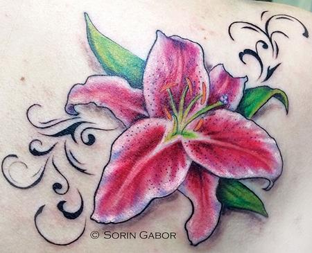 Tattoos - Stargazer Lily - 90046