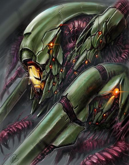 Tattoos - Mech alien collab digital painting with Bob Jones - 120438
