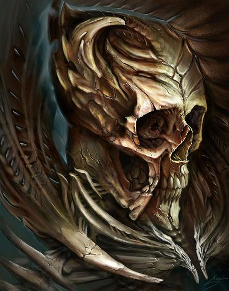 Sorin Gabor - Digital skull for Biomech Collective skull contest 3rd place winner!