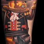 Lego Pirate Tattoo Design Thumbnail