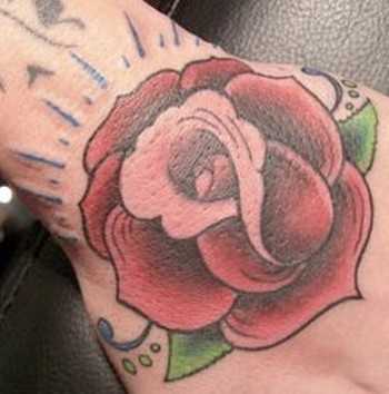 Rose Hand Tattoo Tattoo Design