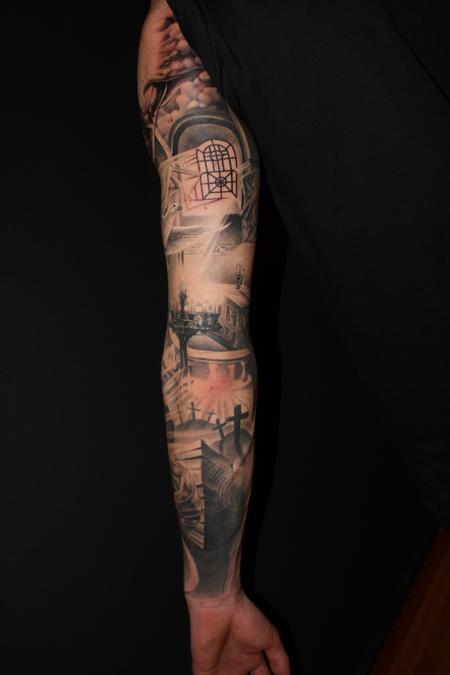 Religious Arm Tattoo