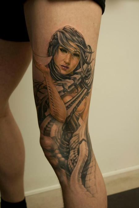 Tattoos - Biomechanic woman - 69249