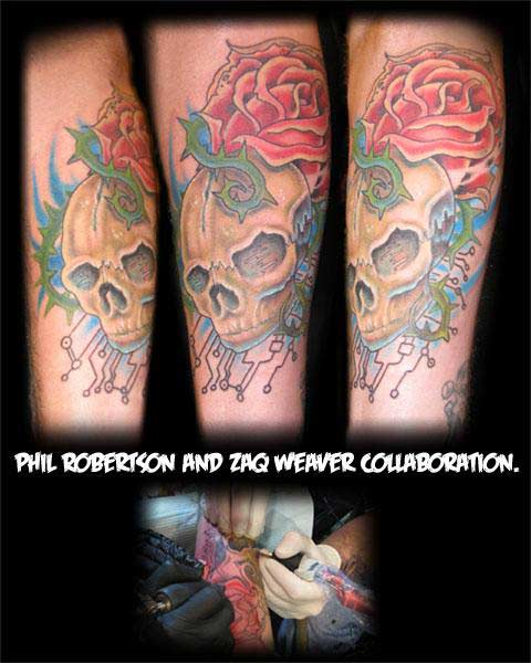 Phil Robertson - Bio Mech Skull Collaboration