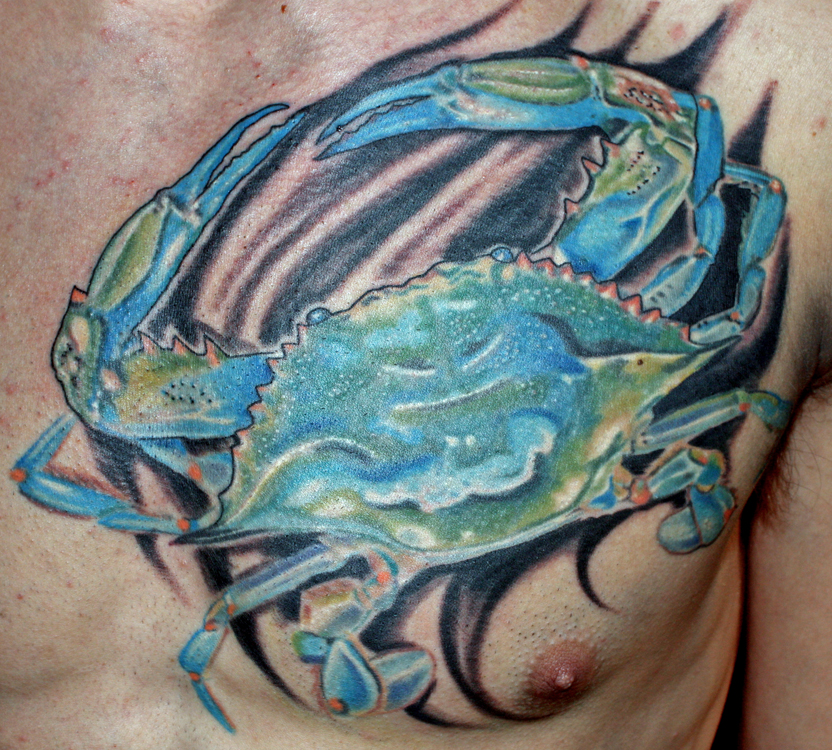 blue crab by phil robertson tattoos