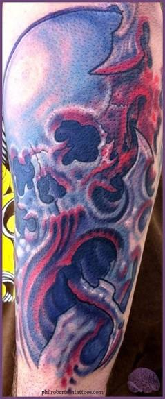 Tattoos BioOrganic tattoos Bio mech skull tattoo