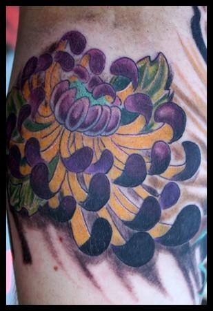 Tattoos - Japanese flower tattoo - 38932