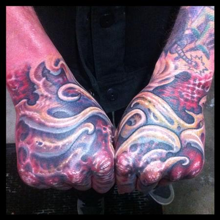 Biomech hands Tattoo Design Thumbnail