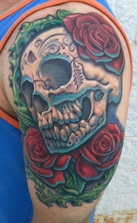 Tattoos - Greatful dead skull and roses - 121766