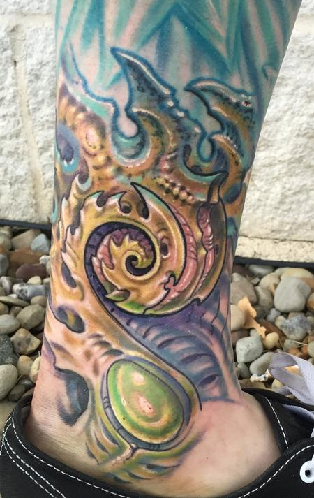 Phil Robertson - Biomech coil tattoo